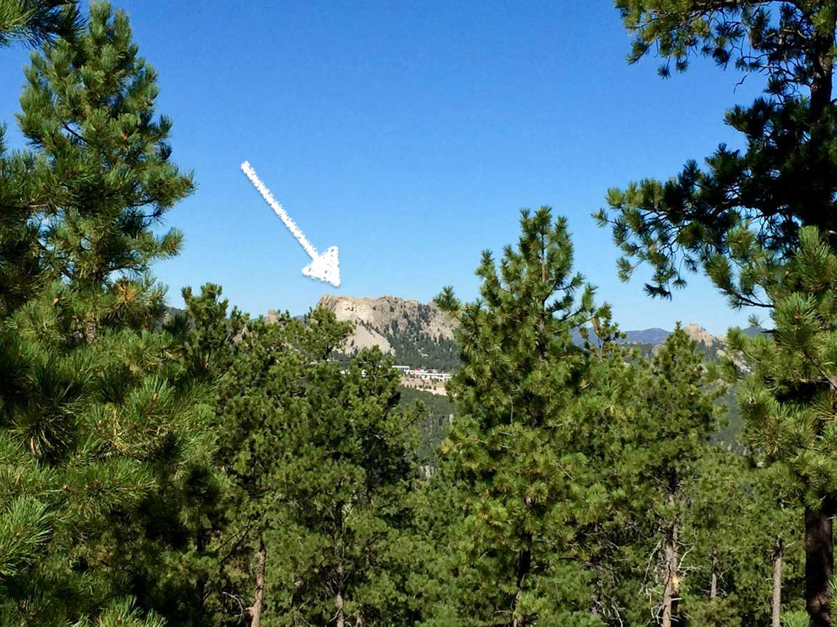 Black Hills National Forestから見たラシュモア山