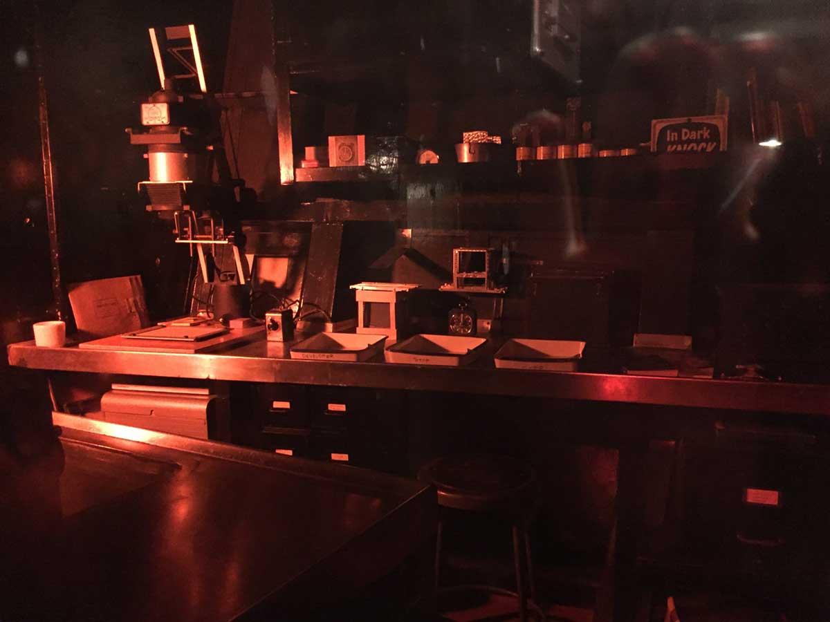 USSアラバマ艦内の写真暗室