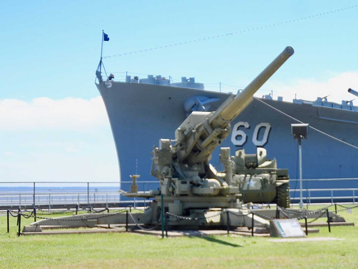 USSアラバマ屋外展示