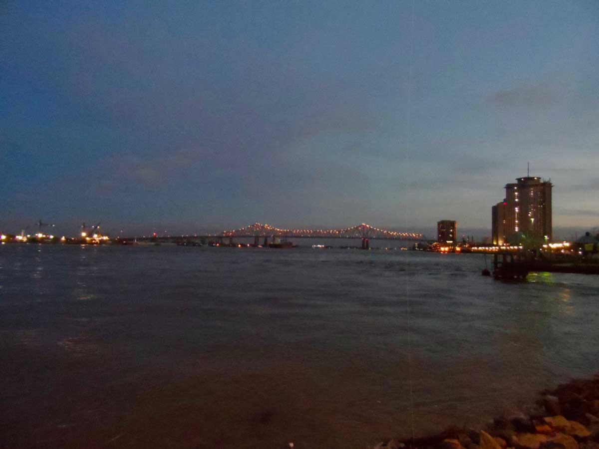 ニューオーリンズの夜景