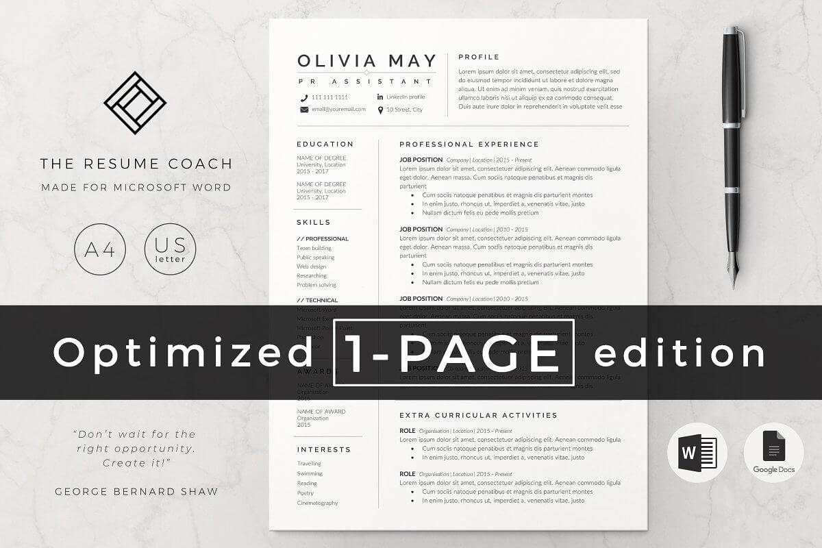 Resume Template / CV