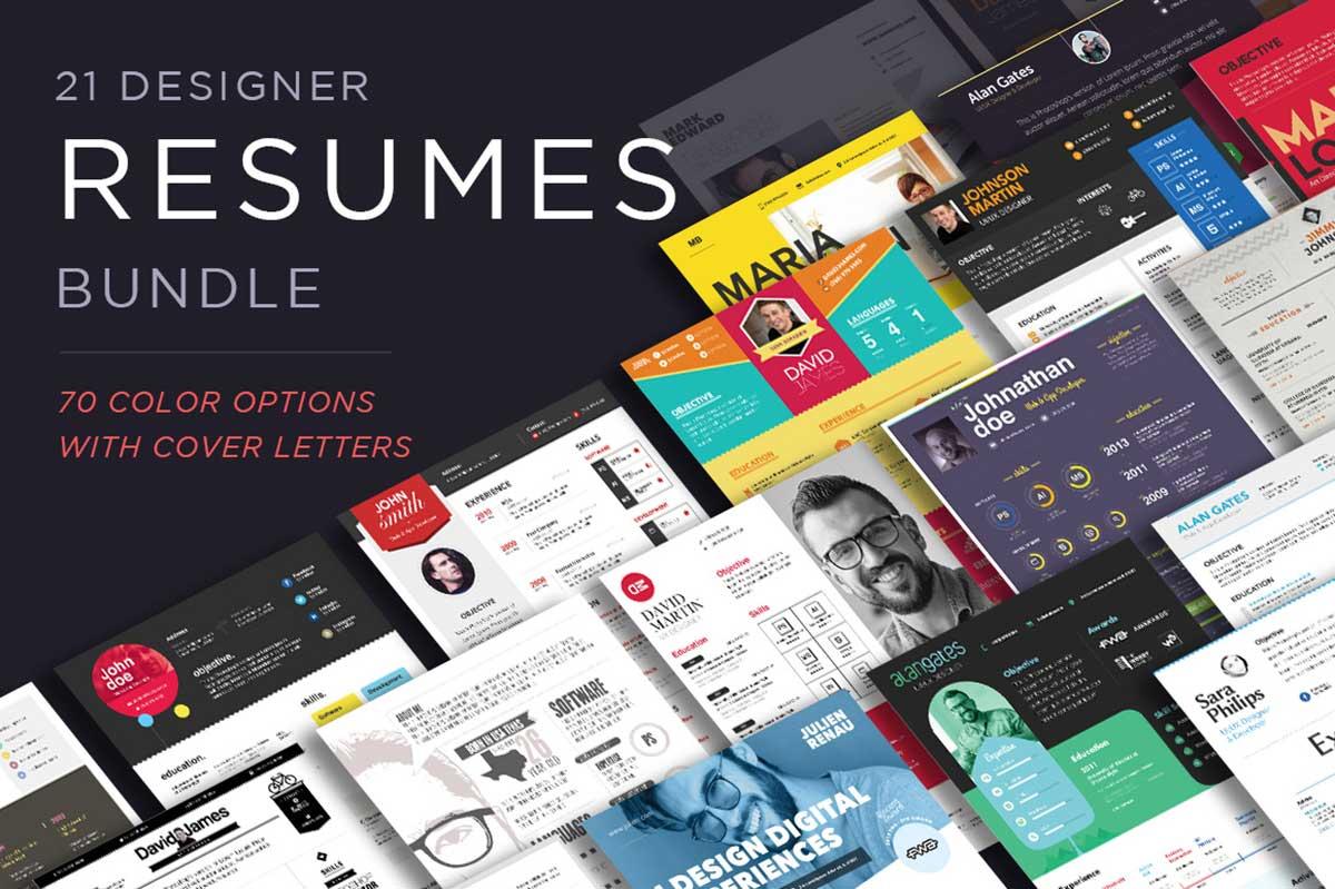 Massive Designer Resumes Pack