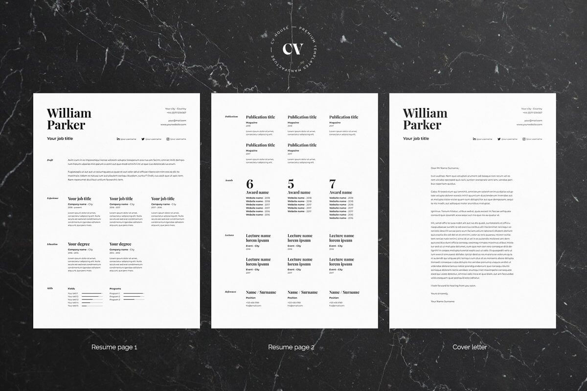 William | CV / resume template