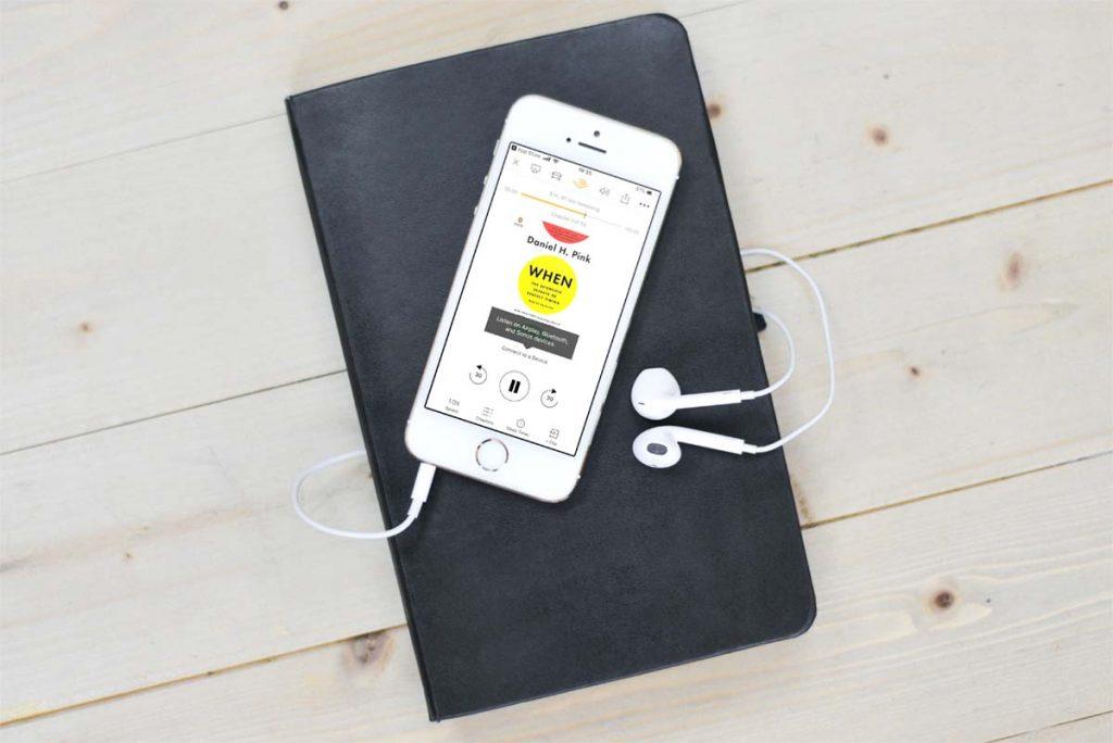 iPhoneでオーディブルを聞く